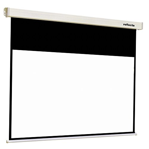 Reflecta CrystalLine Motor 16:9 schwarz, weiß Projektionsleinwand – Projektionsbildschirm (schwarz, weiß)