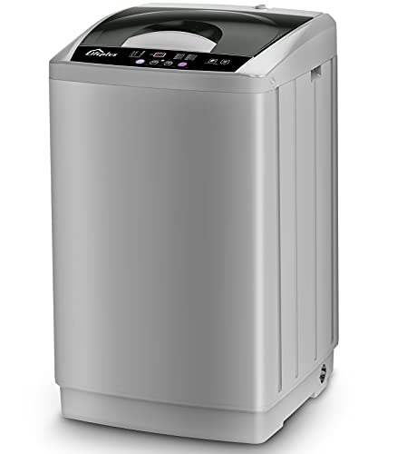 Full Automatic Washing Machine 1.8 Cuft, LifePlus 12lbs Capacity Portable Washing Machine with Drain Pump, Faucet Adaptor, 8 Wash Programs Compact Laundry Washer and Spin Dryer for Apartments RV Dorms