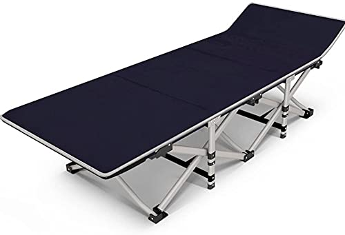 Royal Blue Blue Bed Bed Bed Habitación Hogar Cama Hospital Cama Hospital Cama Portátil Cama Cama Simple Cama Siesta Cama Lazs Cama Perezosa con 2 Capas de Tela de Oxford (Tamaño: S