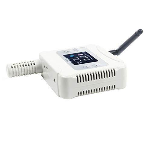 RTYUU Netwerk Temperatuur en Vochtigheid Zender Probe Draadloze WiFi-verbinding 2,4 Inch Kleur LCD-scherm