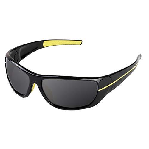 Gafas De Sol Polarizadas Hombre Y Mujer, UV400 Protection, Gafas Ligeras para Jugar Al Golf, Pescar, Esquiar, Andar En Bicicleta Y Correr,Amarillo