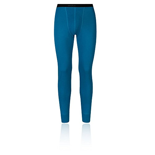 Odlo Pants Révolution TW Slips Chaud Longue HE/uni L Seaport - Blue Jewel Melange