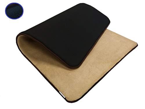 54''x37'' Microfleece Plush Beige Luxurious Comfort Memory Foam Waterproof Anti Slip Mat Rug Pad for Home, Kitchen, Bath, Bedroom, Pet, Activities.