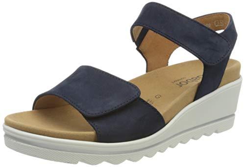 Gabor Shoes Damen Comfort Basic Riemchensandalen, Blau (Blue 36), EU