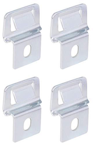 GAH-Alberts 678036 Doppelstabmatten-Clip | für die Bestigung von dekorativen Objekten | Edelstahl | 4er Set