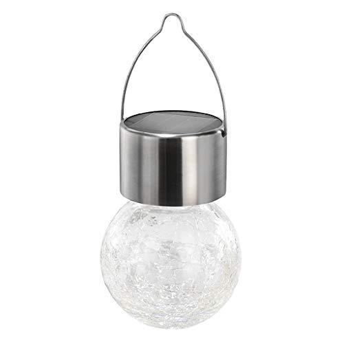 BURAN Luces de jardín led de bola de vidrio que cambian de color, luces solares recargables, luces de mesa solares impermeables al aire libre, luces de noche solares para decoraciones