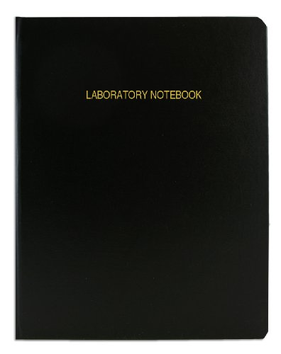 "BookFactory Economy Black Lab Notebook - 96 Pages (Grid Format) 8 7/8"" x 11 1/4"" Flexible Black Cover Laboratory Notebook (E-LIRPE-096-LGR-A-LKT1)"