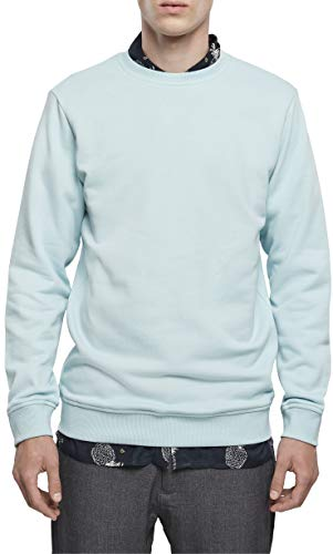 Urban Classics Sweatshirt Basic Terry Crew Pullover Maglione, Blu Mare, M Uomo