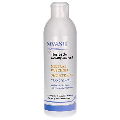 Sivash-Heilerde Minéral Gel Douche pour la Peau et Cheveu, 300 Ml. avec Beta-Carotin-Haltigem Meeresschlick, Ylang-Ylang-Öl et Kamille-CO2-Extrakt. Sp