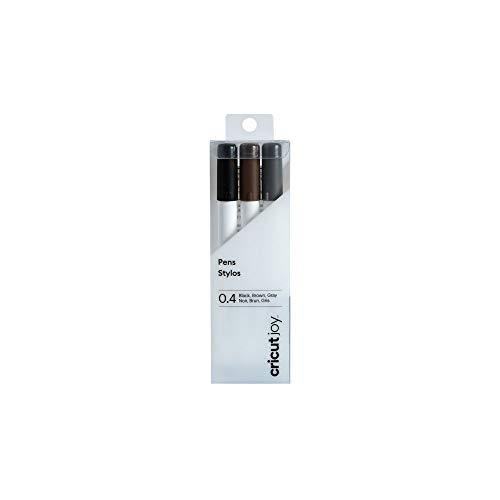 Cricut Joy Fine Point Pens, 0.4 mm (3) Black, Brown, Gray