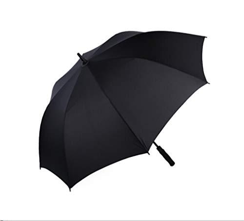 HEZHENG 8 Bone Large K-POP Regenschirm - Langer Griff Windproof & Stormproof Umbrella - Auto Open Black Regenschirme