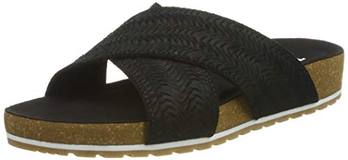 Timberland Damen Malibu Waves Cross Slide Pantoletten, Schwarz (Jet Black Xf0), 39.5 EU