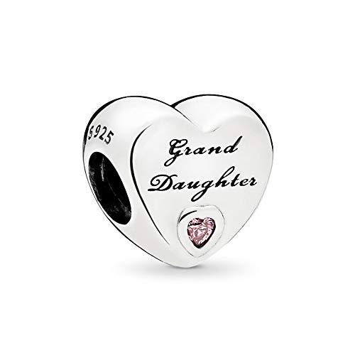 Biggold - Abalorio de plata de ley 925 para hermana, nieta, papá, hija, eres tan amado, mejor amigo, BFF, gracias, te amo, pulseras de bricolaje, joyas para ella/él