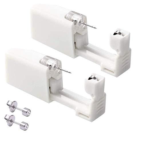 2er Set Ohrring Pistole Set Einweg-ohrlochstechwerkzeugset Asepsis Pierce Kit Mit Ohrstecker Für Ohren Piercing Ohrringe