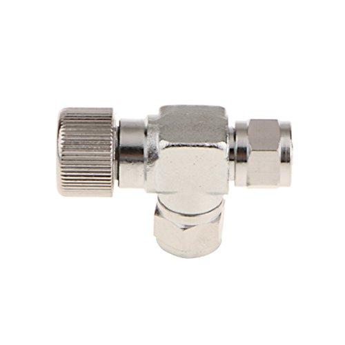 Homyl Aluminium Präzise CO2 Ventil Nadelventil Regler 2-Wege Co2-Regler-Ventil verstellbar