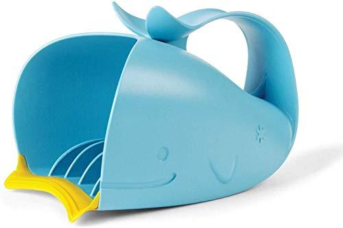 Skip Hop Moby Wal Rinser Becher, zum tränenfreien Haarewaschen, Shampooschutz, Wasserfall, Spülapparat, Spritzschutz, blau