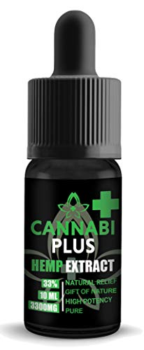 Cannabi Plus Hemp Oil for Pain Relief 3300mg   Great for Stress and Pain Relief, Mood Support, Healthy Sleep Patterns   Our Highest Strength   Made in The Netherlands