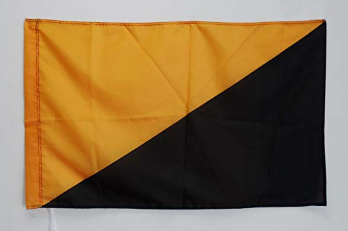 AZ FLAG Bandera del ANARCOMUTUALISMO 150x90cm para Palo - Bandera ANARQUISTA 90 x 150 cm