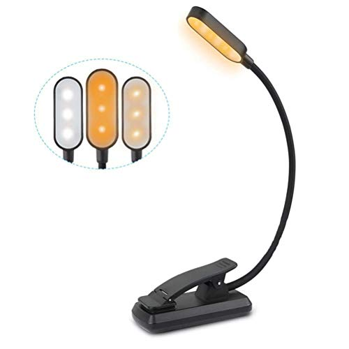 Mify Luz de 9 LED para Libros, luz de Lectura Recargable por USB, 3 Modos de protección Ocular, indicador de Encendido, batería de Larga duración, luz de Libro con Clip Flexible para Leer, Viajar