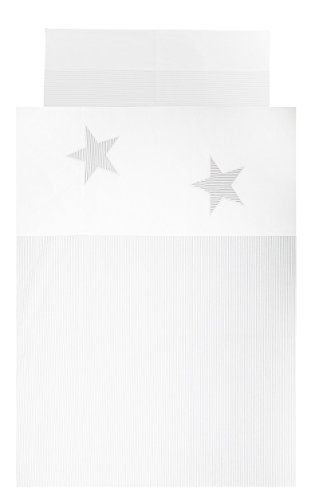 Vizaro - BETTWÄSCHE 2 Tlg. für Kinderwiege 60x120cm - 100% REINE BAUMWOLE - (90x120cm, 30x60cm) - Made in EU - ÖkoTex - SICHERES PRODUKT - K. Stern
