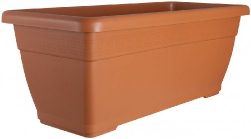 Pflanzkübel PLATO aus Kunststoff in verschiedenen Farben, Farben:terracotta 06;Länge:60 cm