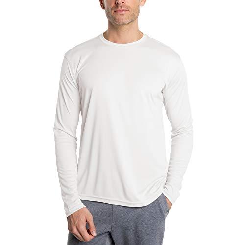 Vapor Apparel Herren Atmungsaktives UPF 50+ UV Sonnenschutz Langarm Funktions T-Shirt X-L Weiß