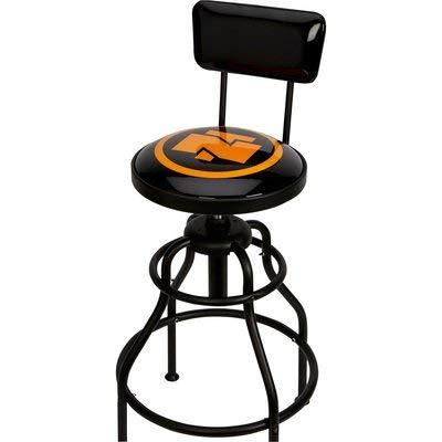 Northern Tool Adjustable Swivel Shop Stool with Backrest - Steel,...