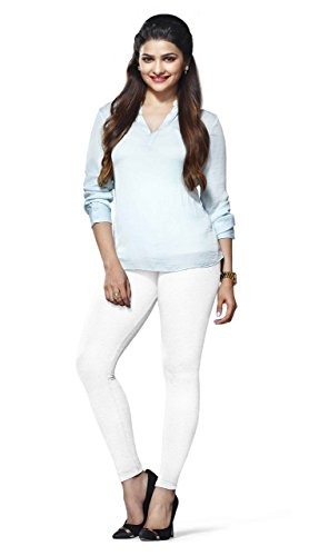 Lux Lyra Women's Pack of 1 Leggings (LYRA_AL_FS_10_1PC_White_Free Size)