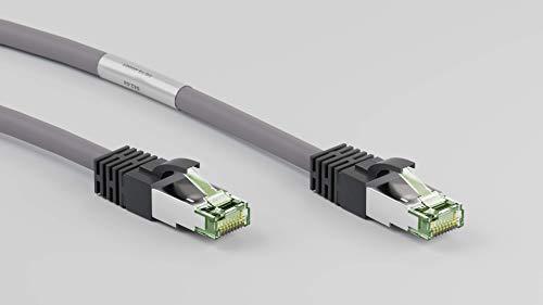 Goobay 55140 RJ45 Patchkabel, Cat 8.1 Rohkabel, Netzwerkkabel, Ethernet, Playstation, Xbox, LAN-Kabel, DSL, Highspeed, RJ45 Stecker, Grau, 7,5 Meter