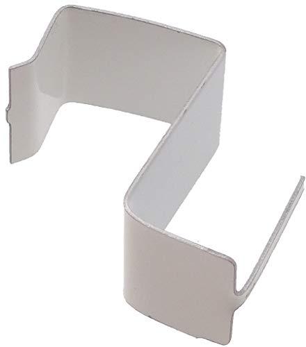 100 Supporti a molla per serramenti in PVC/Legno (Bianco)