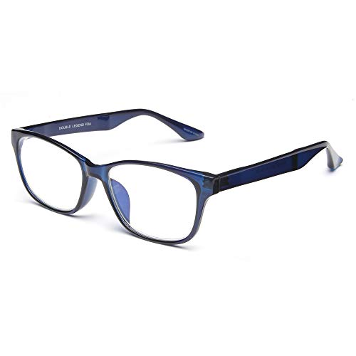 Double Legend 老眼鏡 ブルーライトカット 超軽量 丸 高級ガラス 度数+2.00