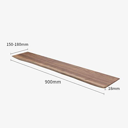 Drijvende Planken, Houten Decoratieve, Vintage Stijl Opslagplanken, Interieur Hangende Decoraties, Displayrek,Massief Houten Plank-Zwarte Walnoot_900 * (150-180) * 18