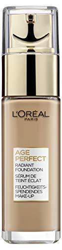 L\'Oréal Paris Make up für reife Haut, Flüssige Foundation mit LSF 17, Für einen strahlenden Teint, Feuchtigkeitsspendend, Age Perfect Make-Up, Nr. 250 Beige Chaud, 1 x 30ml