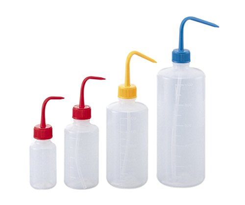 アズワン 洗浄瓶カラフルバリエ細口 レッド 500mL/4-5663-03