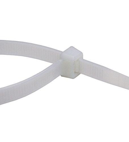 100 Stück Profi Kabelbinder weiss Industriequalität 450 mm x 7,6 mm 54,4 kg Zugkraft Nylon cable ties weiß für PC Fahhrad Industrie von Damstone