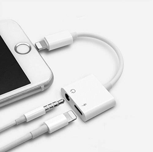 XO UK Headphone Adapter for iPhone 12 Adapter to 3.5mm AUX Audio Adapter Jack Cable Splitter for iPhone 12pro/11pro/ 7/7 Plus/8/8 Plus/X/XR/XS 3.5mm Earphone Dongle Connector Support for All iOS