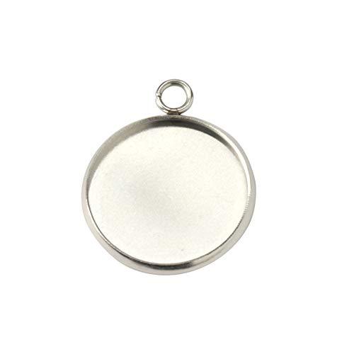 (アップフェルR)[10個] ステンレス ミール皿 16mm [ 銀 シルバー ] パーツ 金属アレルギー