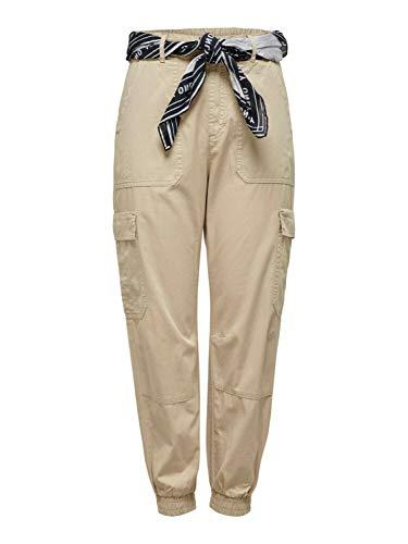 Only Pantalones de Mujer Cargo de algodón orgánico Ligero OnlGUSTA Humus