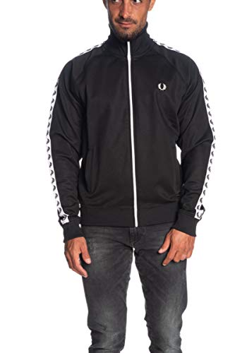 Fred Perry Taped Track Jacket, Giacca sportiva - M