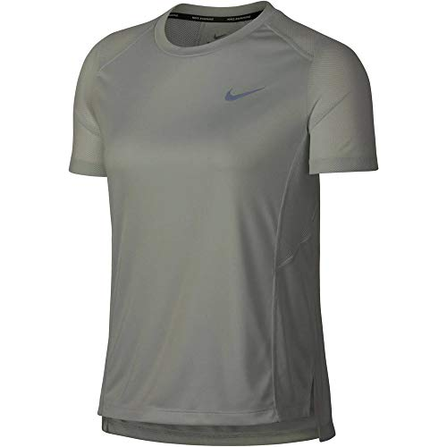 Nike Damen Dry Miler T-Shirt, grau (Barely Grey), XL