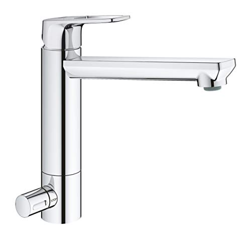 Grohe BauLoop 31713000 Kitchen Sink Mixer Tap with Integrated Stop and Medium Height Spout Ch