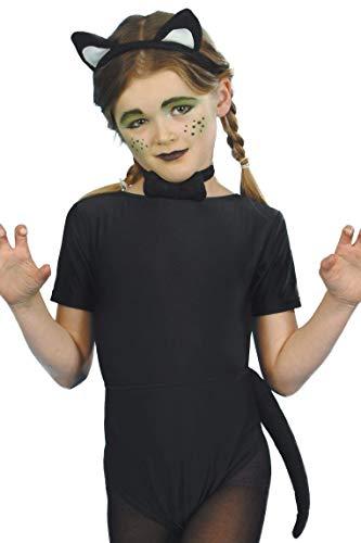 Smiffys Panoplie chat pour enfant, noire, avec oreilles, queue et nœud papillon