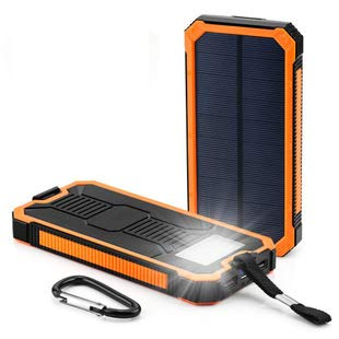 XP Solar Ladegerät, 20000mAh Tragbares Ladegerät Externer Backup-Akku USB-Anschlüsse...