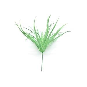 Silk Flower Arrangements Yokoke Artificial Pineapple Grass Air Plants Fake Flowers Faux Succulents Flocking Tillandsia Bromeliads Home Garden Decor 2 Pcs 8.7 Inches