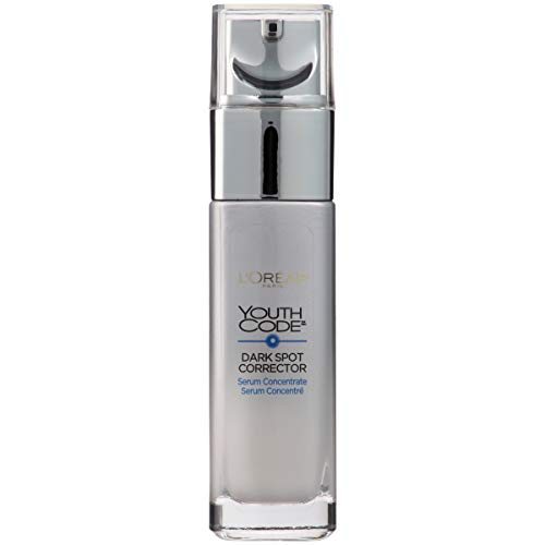 Dark Spot Corrector Face Serum for Even Skin Tone by L'Oreal Paris, Youth Code Anti-Aging Serum, Non-greasy, 1.0 oz