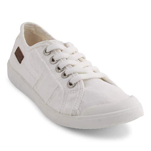 Blowfish Damen Vesper Sneaker, Weißer Leinwand, 38 EU