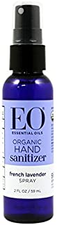 EO Hand Sanitizer Spray- Organic Lavender, 2-Ounce (Pack of 2)