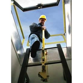 Bilco Yellow Powder Coated Steel Ladder Safety Post