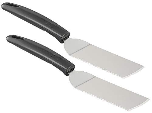 Rosenstein & Söhne 2 spatules dentées en Acier Inoxydable pour poêle et Barbecue