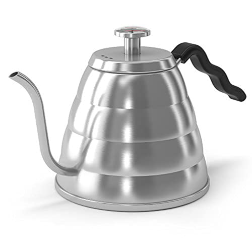 Gooseneck Kettle - Coffee Gator Pour Over Kettle - Precision-Flow Spout and Thermometer -...